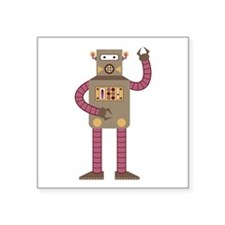 "Receiver Robot Square Sticker 3"" x 3"""