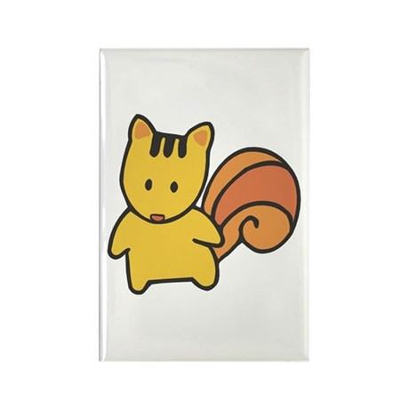 Cute Lil' Squirrel Rectangle Magnet