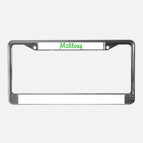 Mallory Glitter Gel License Plate Frame