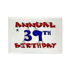 Annual 39th Birthday Rectangle Magnet