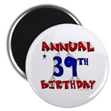 """Annual 39th Birthday 2.25"""" Magnet (100 pack)"""