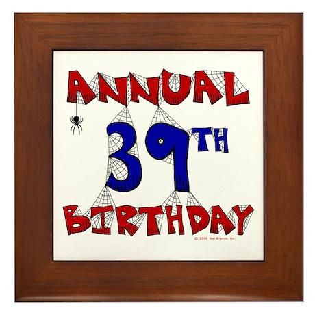 Annual 39th Birthday Framed Tile