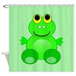Cute Cartoon Frog Shower Curtain