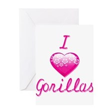 I Love/Heart Gorillas Greeting Card