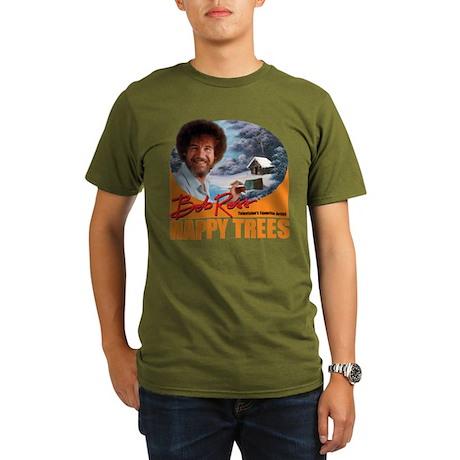 Dark Organic Men's Happy Trees! T-Shirt