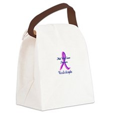 Male Breast Cancer Awareness Canvas Lunch Bag