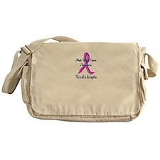 Male Breast Cancer Awareness Messenger Bag