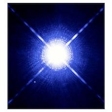 Sirius binary star system Poster