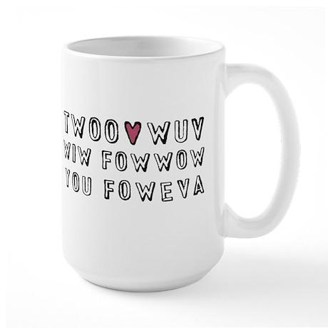 Princess Bride Twoo Wuv Large Mug