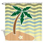 Palm Tree Graphic Shower Curtain