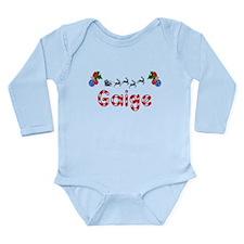 Gaige, Christmas Long Sleeve Infant Bodysuit