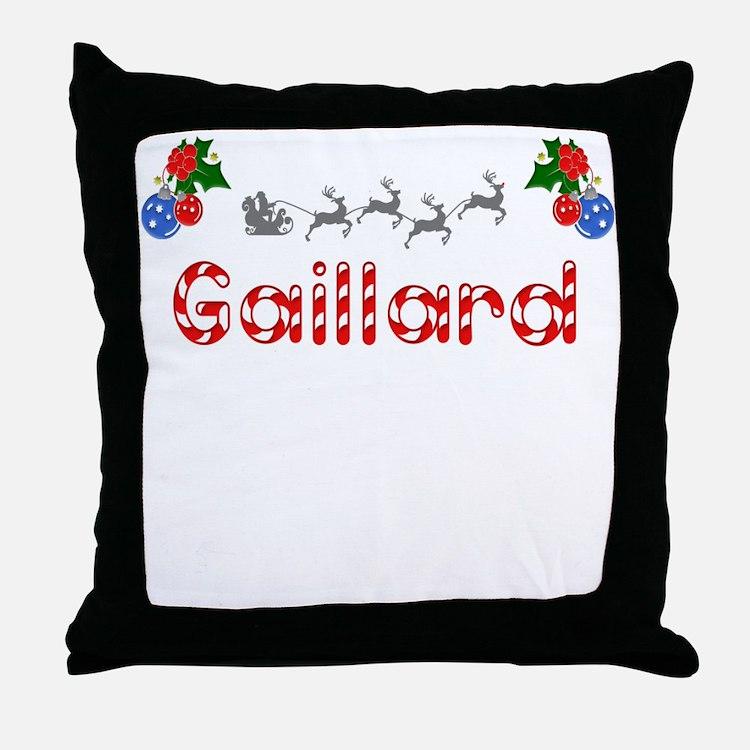 Gaillard, Christmas Throw Pillow