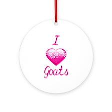 I Love/Heart Goats Ornament (Round)