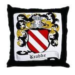 Krabbe Coat of Arms Throw Pillow