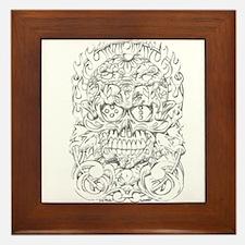 sugar skull Framed Tile