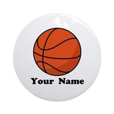 Personalized Basketball Ornament (Round)