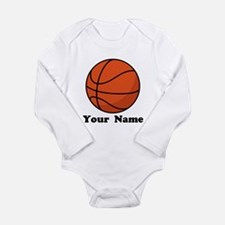 Personalized Basketball Long Sleeve Infant Bodysui
