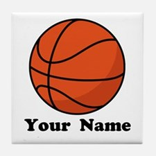Personalized Basketball Tile Coaster