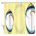 Surfboard Patterns Shower Curtain