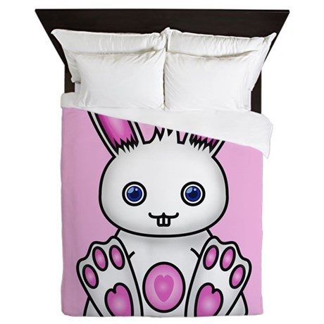 Kawaii Pink Bunny Queen Duvet