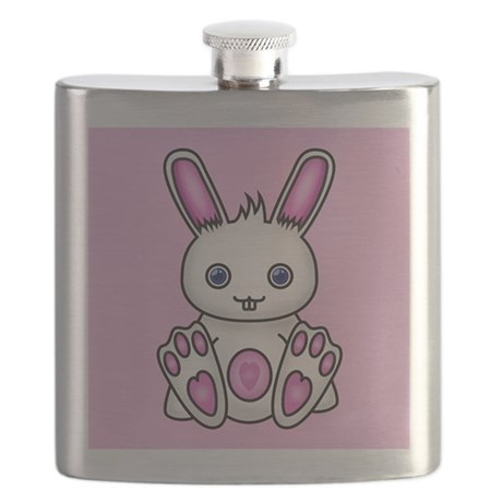 Kawaii Pink Bunny Flask
