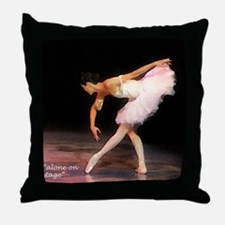 """alone on stage"" Throw Pillow"