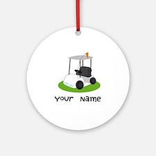Golf Cart Gift For Golfer Ornament (Round)