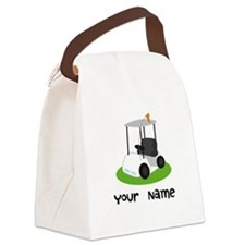 Golf Cart Gift For Golfer Canvas Lunch Bag