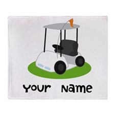 Golf Cart Gift For Golfer Throw Blanket