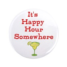 "Happy Hour 3.5"" Button"