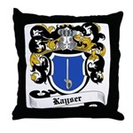 Kayser Coat of Arms Throw Pillow