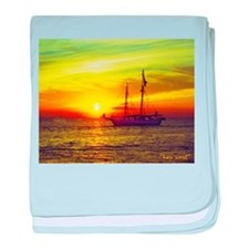 key west at sunset baby blanket
