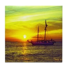 key west at sunset Tile Coaster