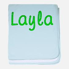 Layla Glitter Gel baby blanket