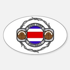 Costa Rica Football Oval Decal