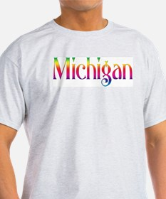Michigan Ash Grey T-Shirt
