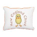 New England Chick Rectangular Canvas Pillow