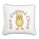 New England Chick Square Canvas Pillow