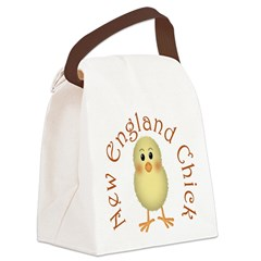 New England Chick Canvas Lunch Bag