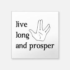 "Live Long and Prosper Square Sticker 3"" x 3"""