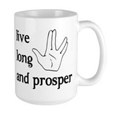 Live long and prosper Large Mugs (15 oz)