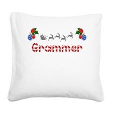 Grammer, Christmas Square Canvas Pillow