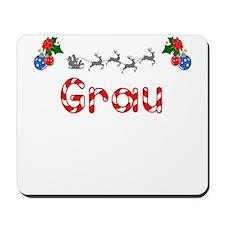 Grau, Christmas Mousepad