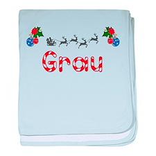 Grau, Christmas baby blanket