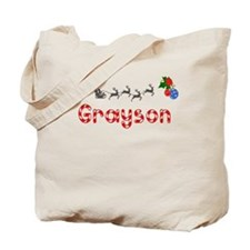 Grayson, Christmas Tote Bag
