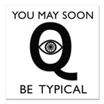 Quantum Eye Square Car Magnet 3