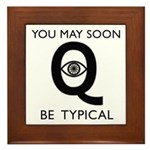 Quantum Eye Framed Tile
