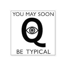 "Quantum Eye Square Sticker 3"" x 3"""
