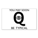 Quantum Eye Sticker (Rectangle 10 pk)