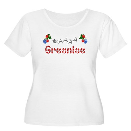 Greenlee, Christmas Women's Plus Size Scoop Neck T